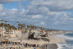 US Navy LCAC (EthnoScape) Tags: california usa beach usmc america giant pier sand war uniform peace technology thankyou jarhead military magic unitedstatesofamerica duty navy patriotic lifeguard appreciation oceanside squid vehicle government marines uniforms float veteran gigantic naval propeller defense usn troops squids blades fuel troop deployment veterans armedforces active hover hovercraft supportourtroops lifeguards camppendleton departmentofdefense beachgoers lcac landingcraftaircushioned ethnoscape jarheads thankyouforyourservice departmentofthenavy cityofoceanside defensebudget operationappreciation ethnoscapeimagery