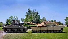 M1A1 Abrams and M4 Sherman (Bro Pancerna) Tags: abrams m4 sherman m1a1