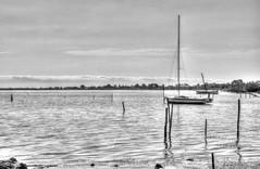 DSC09534_5_6 (lelou66) Tags: hdr bateau bateaux etang nature noir et blanc monochrome extérieur boat hdrenfrancais