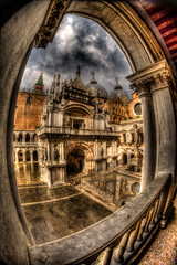 Doges Palace through archway (Steve Muise) Tags: travel venice italy arch palace archway dogespalace
