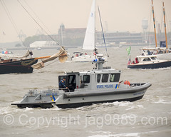 New Jersey State Police Boat, America's Cup World Series 2016, New York (jag9889) Tags: nyc newyorkcity usa ny newyork water sport race river boat newjersey sailing ship unitedstates yacht outdoor manhattan unitedstatesofamerica nj sailors police competition vessel hudsonriver bermuda americascup immigration lawenforcement batteryparkcity lowermanhattan challenger waterway gardenstate ellisisland worldseries louisvuitton defender sailingboat 2016 newyorkharbor firstresponder auldmug jag9889 20160507 americascupnewyork2016