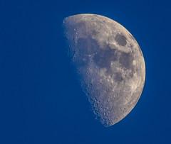 The Moon On Blue Sky (dietmar-schwanitz) Tags: blue sky moon mond himmel blau manfrotto lightroom sigmaapoteleconverter2xexdg zunehmendermond increasingmoon sigmadg150500mmf5063apohsm dietmarschwanitz nikond750