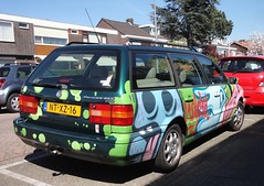 VW Passat B3 Variant VR6 GLX 28-2-1995 NT-XZ-16 (Fuego 81) Tags: art vw volkswagen 1995 passat paintjob vr6 variant b3 sidecode5 ntxz16 importinnl141996