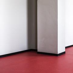 red floor ([eff.emm]) Tags: rot architecture grau clean photowalk architektur simple weiss schwarz ausschnitt minimalsim neubrandenburg 2016 reduziert bodenbelag instagram