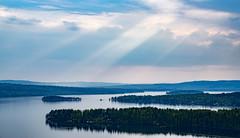 Vsman (marcusholmqvist) Tags: sun lake landscape norden scandinavia sunray sunbeams ludvika landskap sj vsman