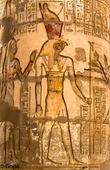 Wall carving of Horus, Kom Ombo Temple (gambat) Tags: temple religion egypt horus komombo wallcarving upperegypt egyptiangods egyptianarchitecture