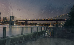 Ephemeral ( Esther ) Tags: street new york city travel bridge blue light sunset sea summer sky urban usa sun ny building water rain skyline architecture brooklyn night clouds america canon river photography cityscape angle manhattan wide