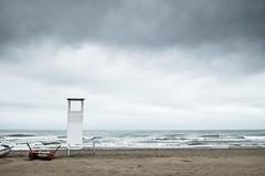 Torretta (Vanda Guazzora) Tags: nuvole mare rimini autunno lungomare spiaggia temporale abbandono