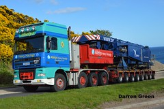 ALLELY'S HEAVY HAULAGE DAF XF 480 SUPER SPACE T500 AHH (denzil31) Tags: bms trailer ahh osprey a9 liebherr superstructure berriedale t500 heavyhaulage daftrucks dafxf superspace goldhofer allelys stgocat3 lg1750