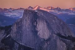 Half Dome & the Sierra, Yosemite National Park CA (arbabi) Tags: california sunset shadow usa mountains nature america landscape nationalpark granite halfdome yosemitenationalpark wilderness sierranevada monolith range alpenglow lastlight sierranevadarange eaglepeak mariposacounty