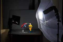 Superman/Sentry BTS (Vimlossus) Tags: flash scene setup strobe bts