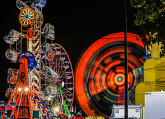 lead foot (pbo31) Tags: california light red summer motion black color june night nikon ride fair spinning butler bayarea rides eastbay midway pleasanton alamedacounty 2016 lightstream boury pbo31 d810 amuesments