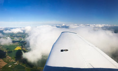 Afternoon Above Yorkshire (Matthew77W) Tags: beautiful clouds flying view aircraft aviation yorkshire flight wing scenic aeroplane ppl pilot iphone pa28 wingview smallaircraft iphone6splus