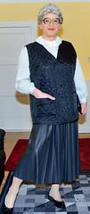 Ingrid022140 (ingrid_bach61) Tags: leather skirt blouse mature faux waistcoat pleated ruffled weste kunstleder faltenrock rschenbluse