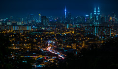 Urban Night (bdrc) Tags: asdgraphy night nightscape landscape city urban kl kuala lumpur lights long exposure light trail kltower klcc center malaysia ampang point rainy sony a6000 sel2470gm g master zoom lens gforgreatness cityscape