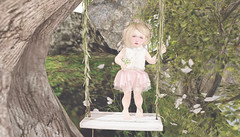 Flower Child...  (ChelseaChic - Blogger) Tags: summer flower nature girl beautiful forest child girly swing blush