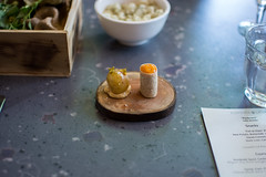 Canapés: New Potato & Duck Liver (The Cereal Eater) Tags: vancouver britishcolumbia popup 2016 elementa latab joshblumenthal krisbarnholden colablatab
