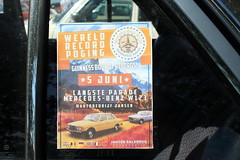 Poster (Davydutchy) Tags: records netherlands juni poster mercedes benz book ad nederland parade guinness mercedesbenz longest paysbas mb jansen attempt overijssel niederlande w123 worldrecord balkbrug 2016 autobedrijf