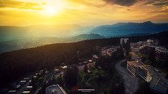 Grenoble Sunset (L'Empreinte Photographie - URBEX) Tags: drone dji phantom 3 aerial aerialshot aerialphotography aerialcinematography landscape mountain chamrousse grenoble rhonealpes lempreintephotographie