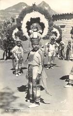 Danza de la Pluma Oaxaca Mexico (Teyacapan) Tags: vintage mexico postcard photographs oaxaca danzantes teotitlan zapotec danzadelapluma