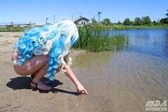 IMG_1693 (MDA Cosplay Photography) Tags: pink blue mountain ontario anime cute beach water pond village collingwood photoshoot princess cosplay tengen manga resort bikini nia swimsuit 2016 toppa gurrenlagann gurren lagann bikinicosplay teppelin gurrenlaganncosplay niacosplay yeticon