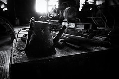 197 (dijopic) Tags: bw indoor light dark sony mood atmosphere darkness view machine oil dijopic