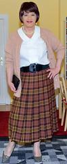 Birgit022574 (Birgit Bach) Tags: pleatedskirt faltenrock blouse bluse cardigan strickjacke