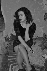 (60anhour) Tags: pauline franaise girl lady woman pretty femme sexy dress robe vieuxnice oldnice nice france sud southoffrance sudfrance 18ans 18yo 18yearsold solitude tristesse dsespoir grandeur sadness sad bad brilliant noiretblanc bw