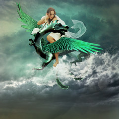 Fleeing the storm (jaci XIII) Tags: drago surrealismo modelo faestock mulher pessoa tempestade espao dragon surrealism woman model person space storm