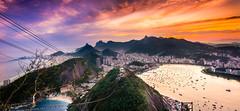 Lights of Rio (Rodrigo Malutta) Tags: amarelo sunset rio de janeiro brasil brazil corcovado urca cristo pr do sol bondinho