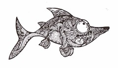 Octopus Alert! - Fishie Fish (artyshroo) Tags: fish seaside sealife doodle octopus penink shroo zentangle wwwartyshrooblogspotcouk artyshroo
