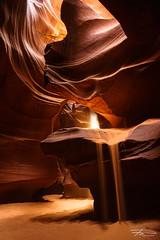 The Solar Hourglass (Rkitichai) Tags: nature nationalpark unitedstatesofamerica antelope canyons sunbeam hourglass pagearizona