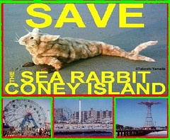 502  SAVE THE SEA RABBIT. official poster. Coney Island Sea Rabbit Repopulation Center (aka. Sea Rabbit Center) in Coney Island, Brooklyn, NY. Design by Dr. Takeshi Yamada.   2007-01 FINAL (searabbits23) Tags: food ny newyork sexy celebrity art hat fashion animal brooklyn painting asian coneyisland japanese star costume tv google king artist dragon god cosplay manhattan wildlife famous gothic goth performance pop taxidermy cnn tuxedo bikini tophat unitednations playboy entertainer takeshi samurai genius mermaid amc mardigras salvadordali unicorn billclinton billgates aol vangogh curiosities sideshow jeffkoons globalwarming takashimurakami pablopicasso steampunk yamada damienhirst cryptozoology freakshow barackobama seara immortalized takeshiyamada museumofworldwonders roguetaxidermy searabbit ladygaga climategate minnesotaassociationofroguetaxidermists