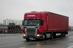 Scania semi remorque rouge