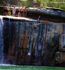Wattamolla 20 Falling (BrianRope) Tags: people nationalpark scenery australia nsw wattamolla