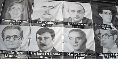 Innocent victims because of criminality - Posters in Naples
