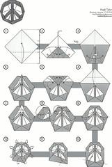 Peace Sign Diagram - Hadi Tahir (haditahir) Tags: sign origami peace flat symbol frieden pace damai colorchange zeichnen  lambang