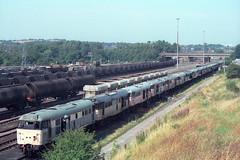 31290, Toton Depot, August 19th 1998 (Southsea_Matt) Tags: train railway depot diesellocomotive class31 31290 31294 scrapline 31116 totondepot