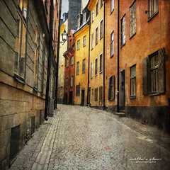 Gamla Stan, Stockholm (Milla's Place) Tags: city buildings sweden stockholm textures gamlastan oldtown textured millasplace magicunicornverybest