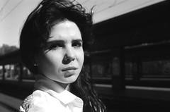 Sara   film   2016 (Luca Scarpa) Tags: portrait blackandwhite bw film portraits 35mm bn ilford biancoenero