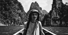 lake tour (JennieLeung) Tags: blackandwhite nature monochrome thailand bokeh southern hdr helios limestonecliffs swirlybokeh