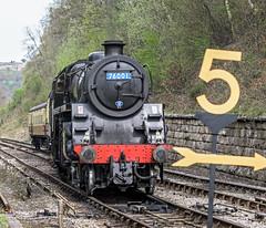 Nearly There (4486Merlin) Tags: england europe unitedkingdom transport steam northeast railways northyorkshire goathland gbr northyorkshiremoorsrailway heritagerailways exbr brstd4mt260 7600176079 nymrscottishbranchlinegala