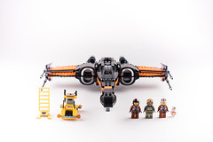 Lego_starwars_5652 (kyl080) Tags: orange black star stand starwars fighter lego whitebackground xwing wars minifigs custom poe moc 2016 dameron 75102