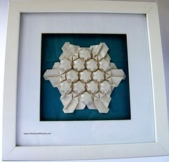 DSC01544 (thesesmallhands) Tags: sculpture paperart origami handmade arts homemade tessellations paperfolding