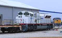 Pair of Demos (GLC 392) Tags: new railroad test up train demo illinois bed gm gloomy 4 railway testing il electro locomotive motive division brand 90 unit lagrange 1505 emd teir emdx sd90mach sd89mac sd70acet4 gm90