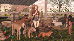 Barnyard Buddies (Gaby Marshdevil ~ BUSY IRL) Tags: cute sl secondlife kawaii something jian ayashi gacha meshhead kitja gachaguardians