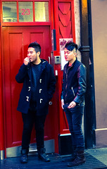 dooods (NovaLazyPhotography) Tags: two london fashion chinatown fuji doorway portraiture trendy saturation dudes londonchic fashiondudes x100s hipdudes fluteloop1969 novalazyphotography