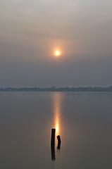 Sunset Candlelight (Jono   ) Tags: china sunset summer sunlight lake reflection ice smog nikon asia beijing palace d5100