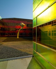 _DSC2256 (durr-architect) Tags: light sun colour reflection netherlands glass architecture modern facade photo border offices almere dfense berkel unstudio