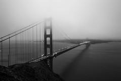 Golden Gate Fog (corybeatty) Tags: california bridge sky bw monochrome fog architecture mono golden gate san foggy franciso